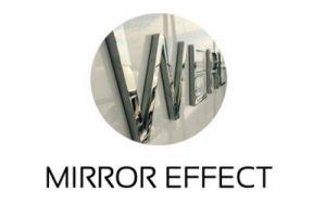 name led light mirror effect